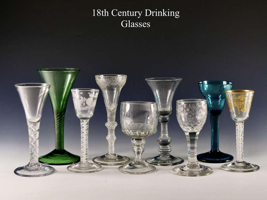 18th Century English drinking glasses