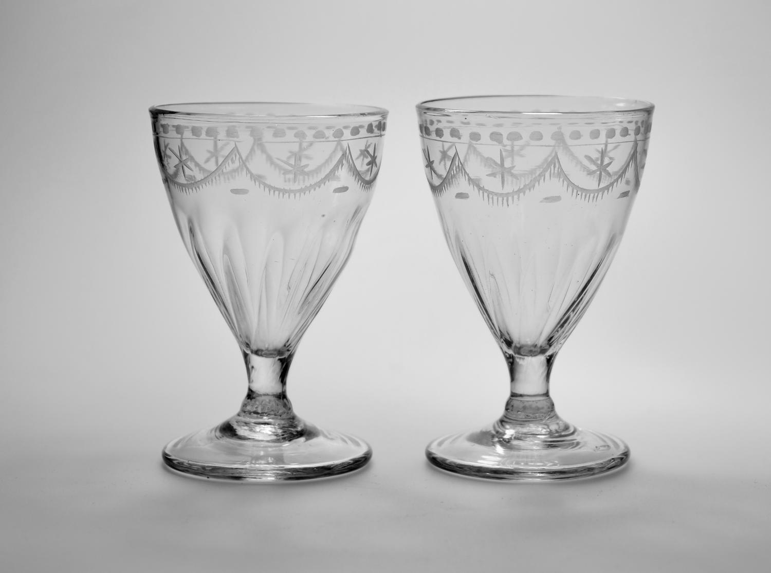 Pair of rummers English C1790