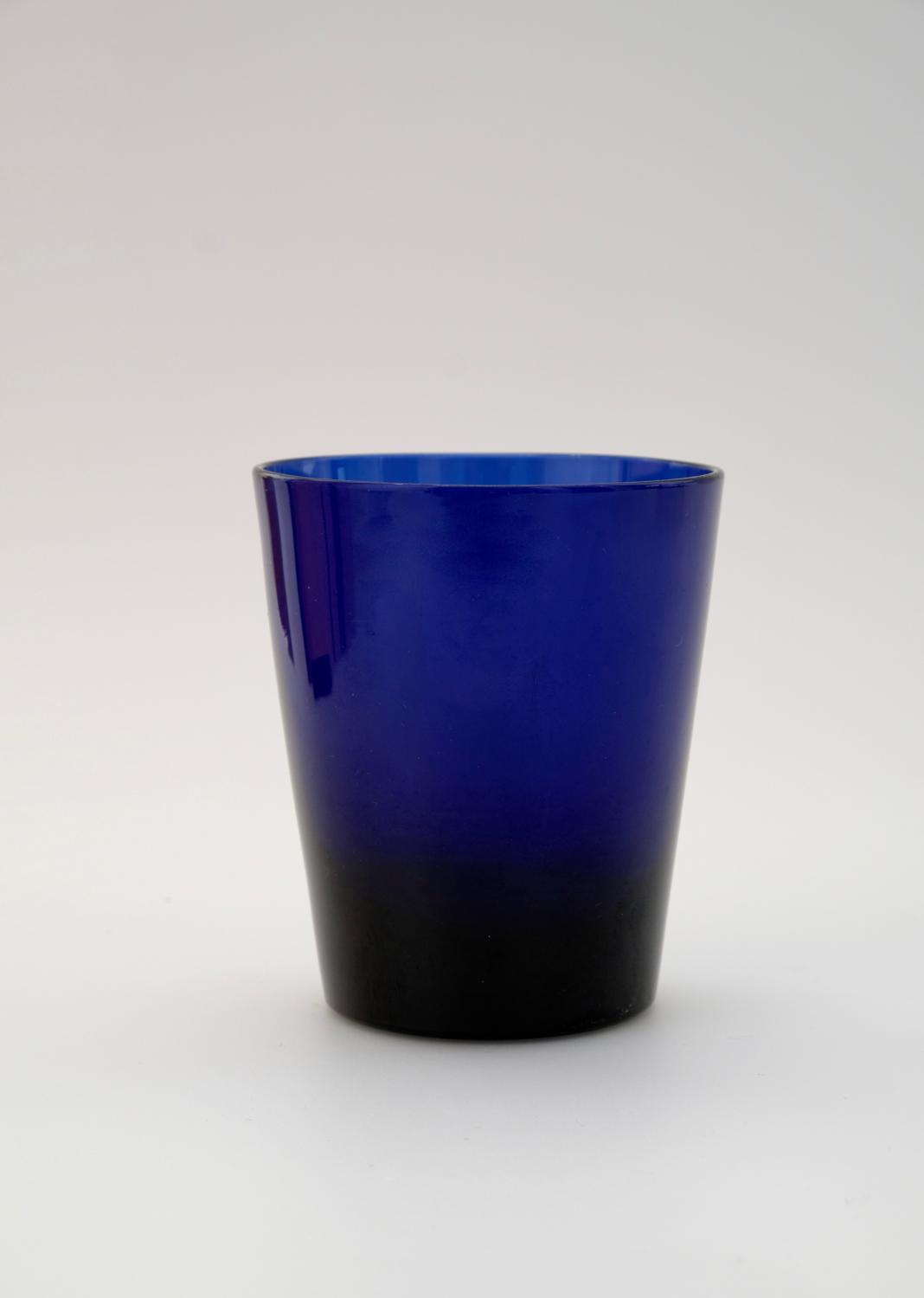 Blue glass tumbler English C1790.