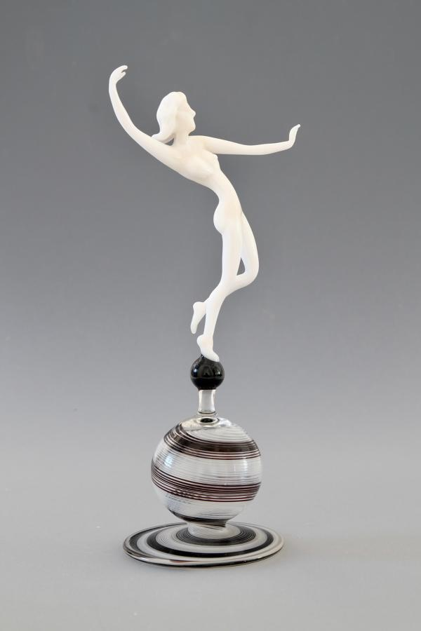 Glass Figure by Istvan Komaromy