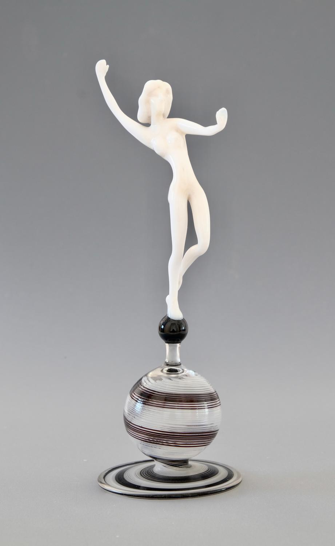 Glass Figure by Istvan Komaromy