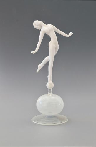 Glass Figure by Istvan Komaromy.