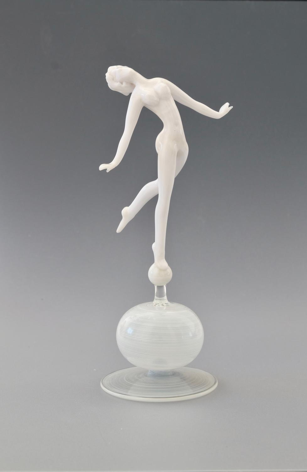 Glass Figure by Istvan Komaromy.