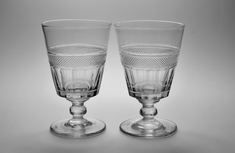 Pair of bucket bowl rummers. English C1820.