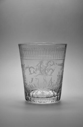 Engraved tumbler dated 1784