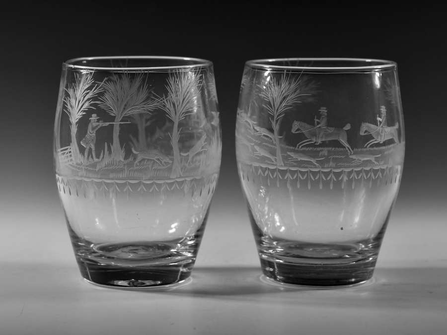 Pair of hunting tumblers C1800.
