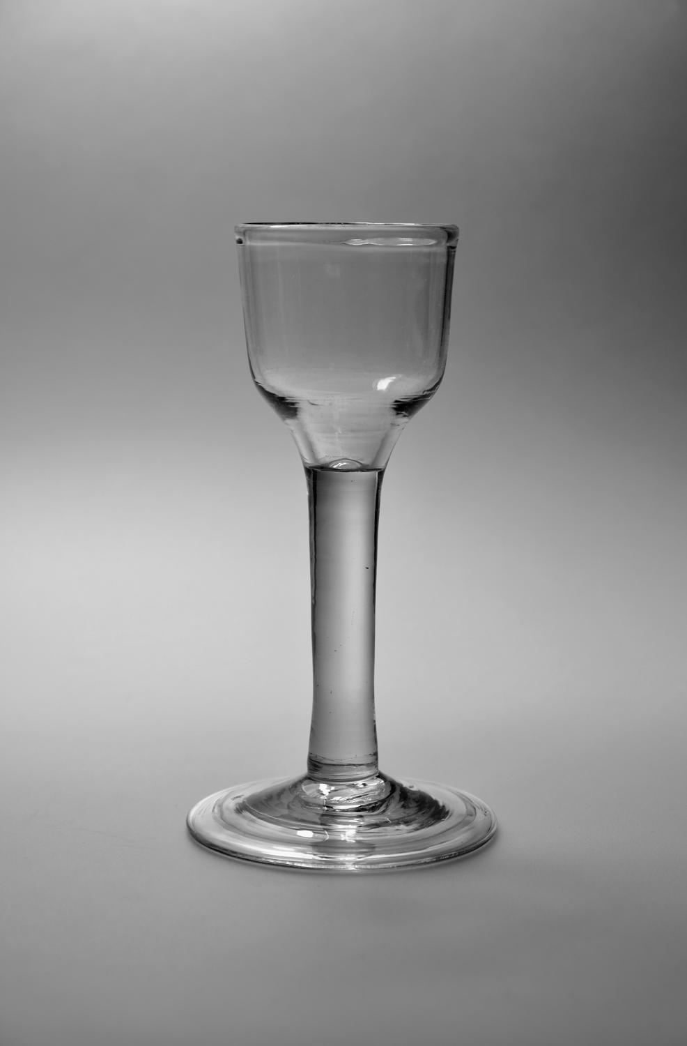 Plain stem wine glass C1760.
