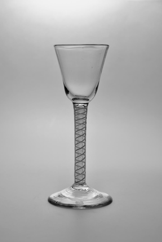 Double series opaque twist wine glass C1765.