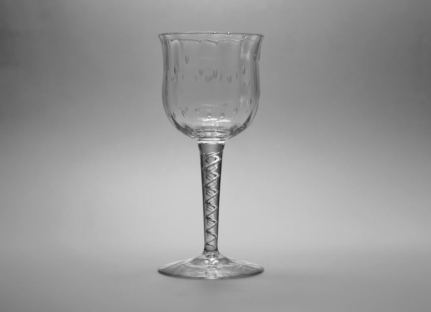 Wine Glass by Harry Powell C1880's