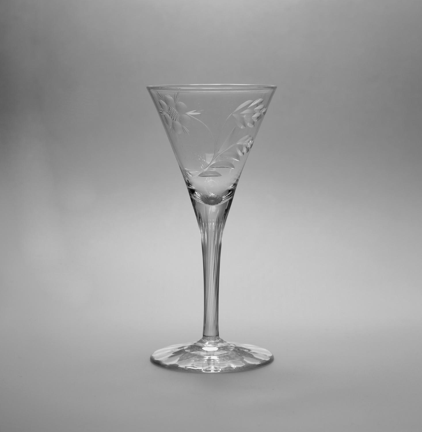 Wine Glass Designed by Harry Powell C1900.