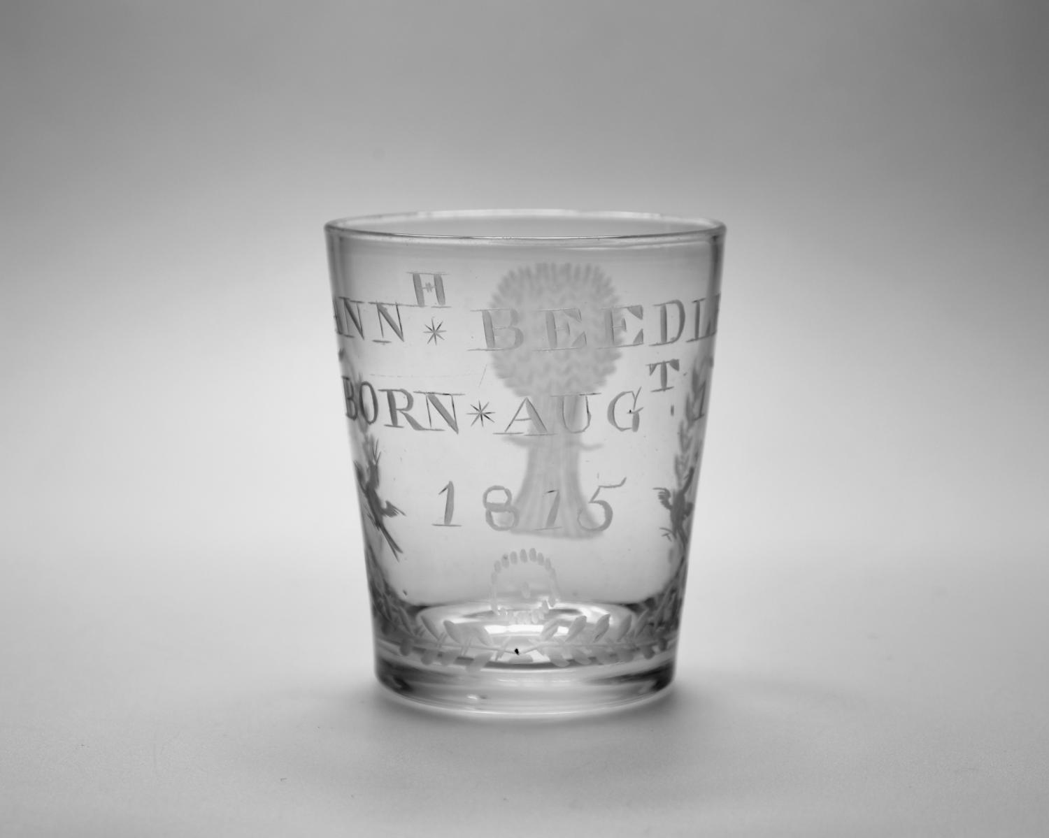 Engraved tumbler dated 1815.