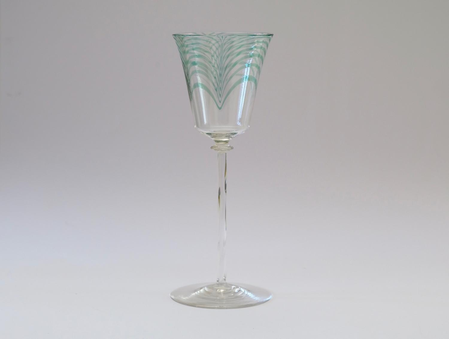 Wine Glass By Harry Powell 1906.