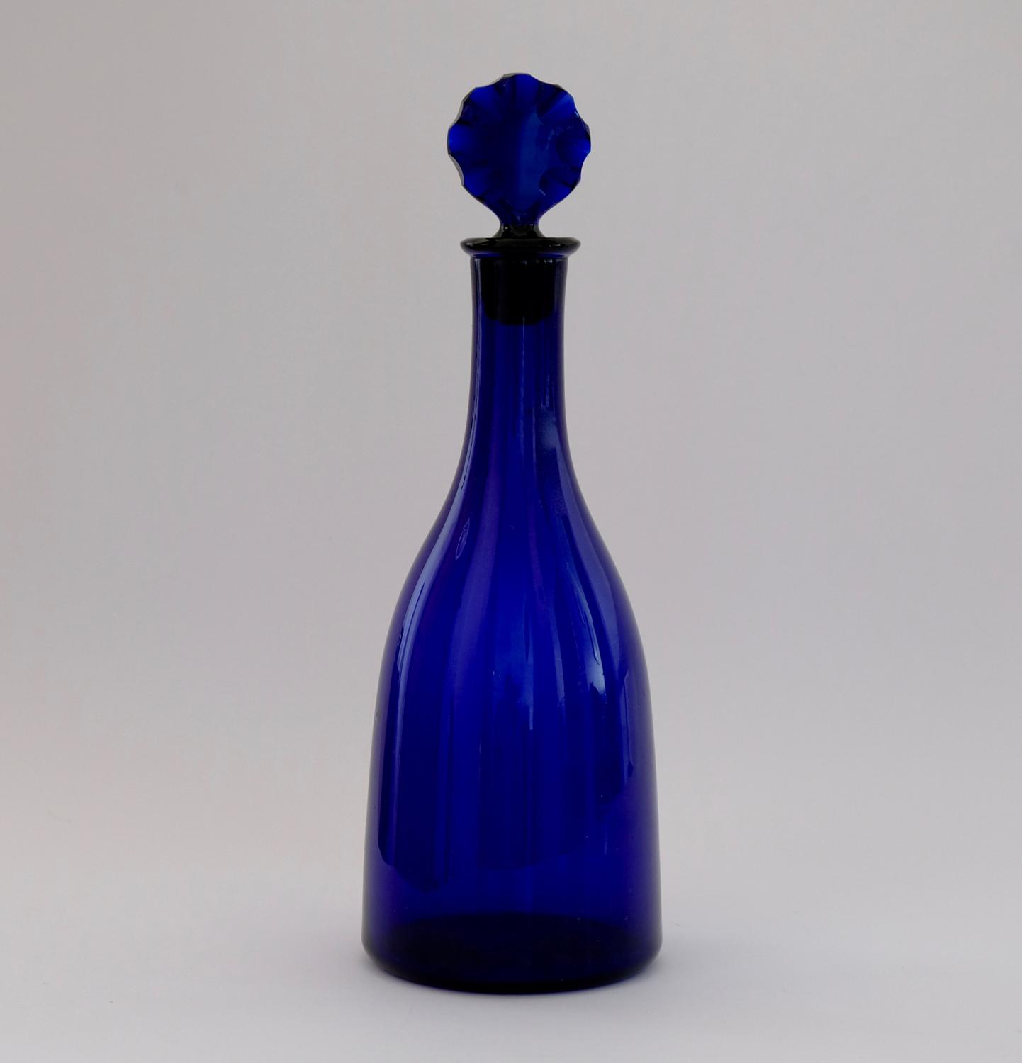 Blue Taper Decanter C1780.