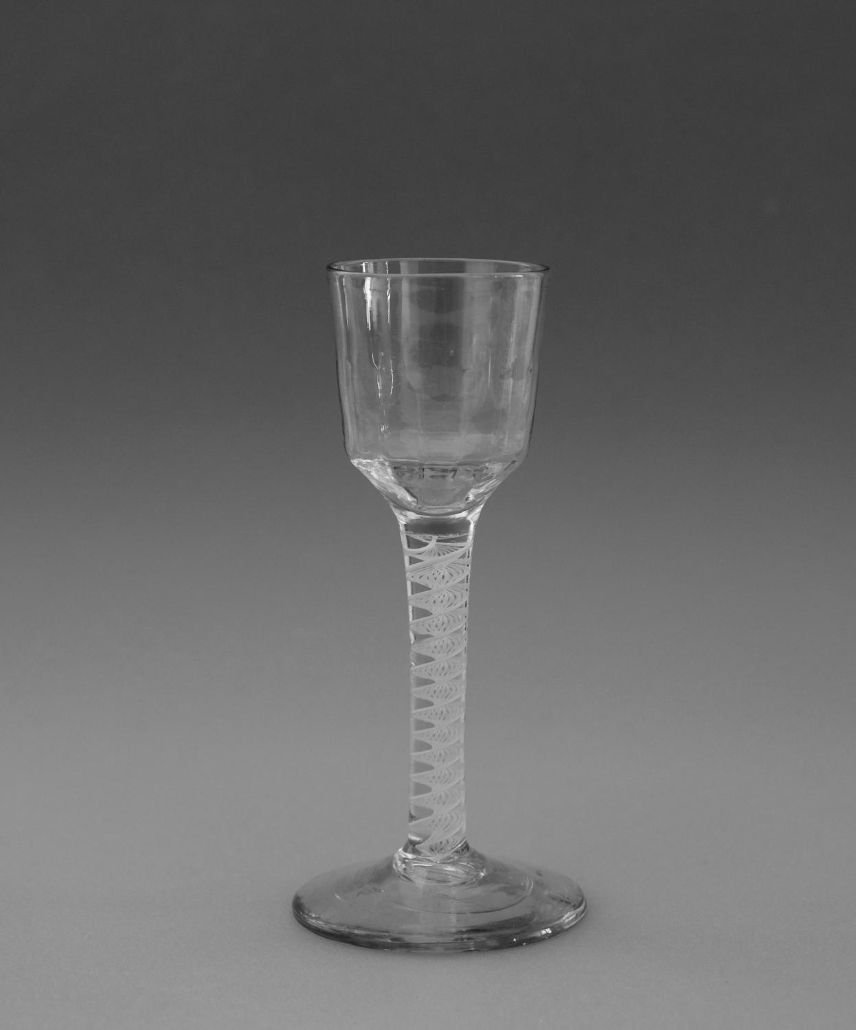 Opaque twist wine glass C1765