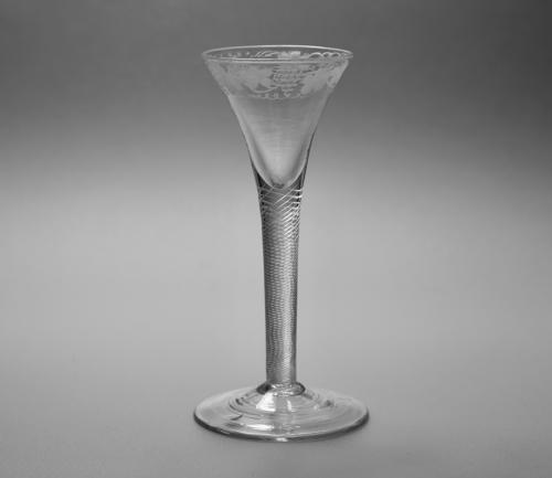 Multi spiral air twist wine glass C1755.