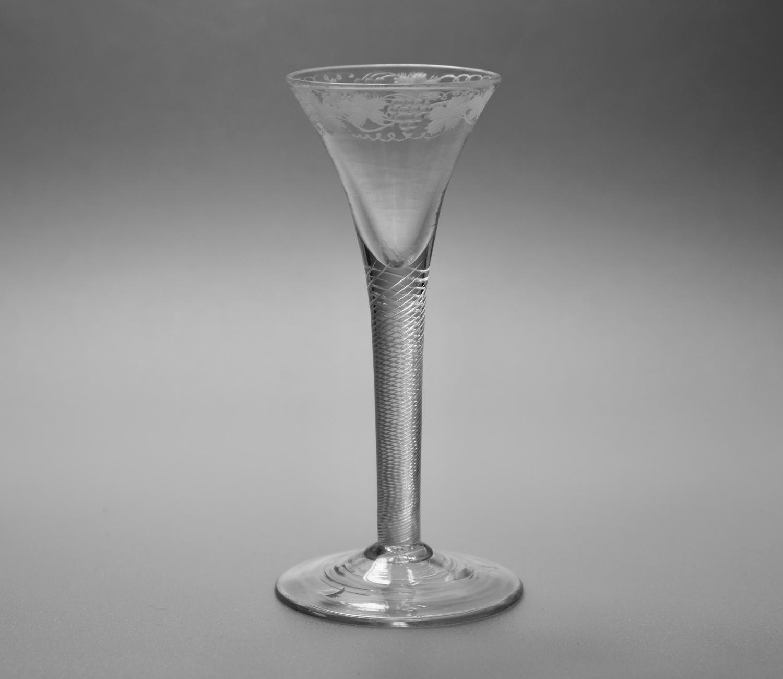 Multi spiral air twist wine glass C1755.