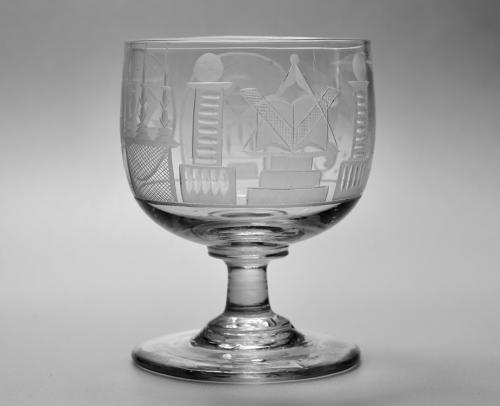 Engraved Masonic rummer C1830.