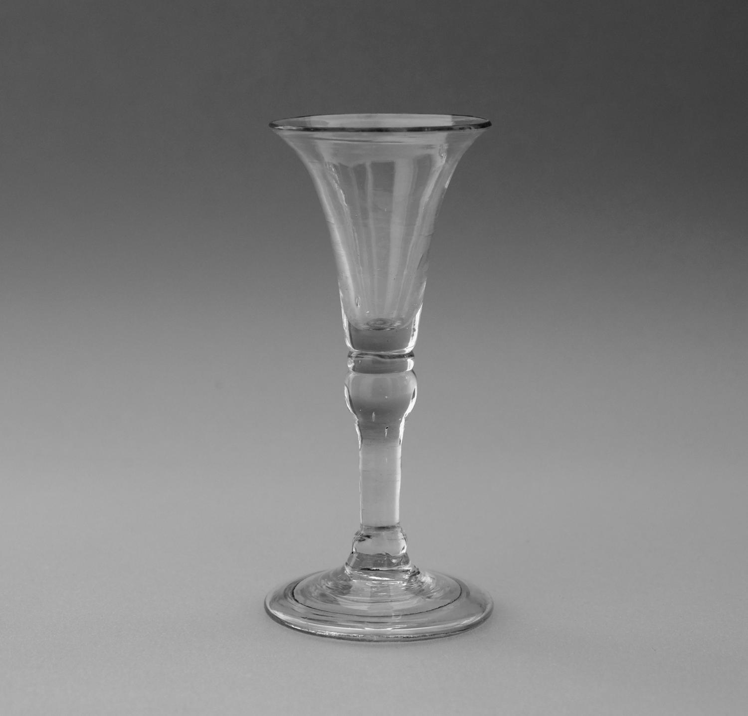 Gin glass English C1750.