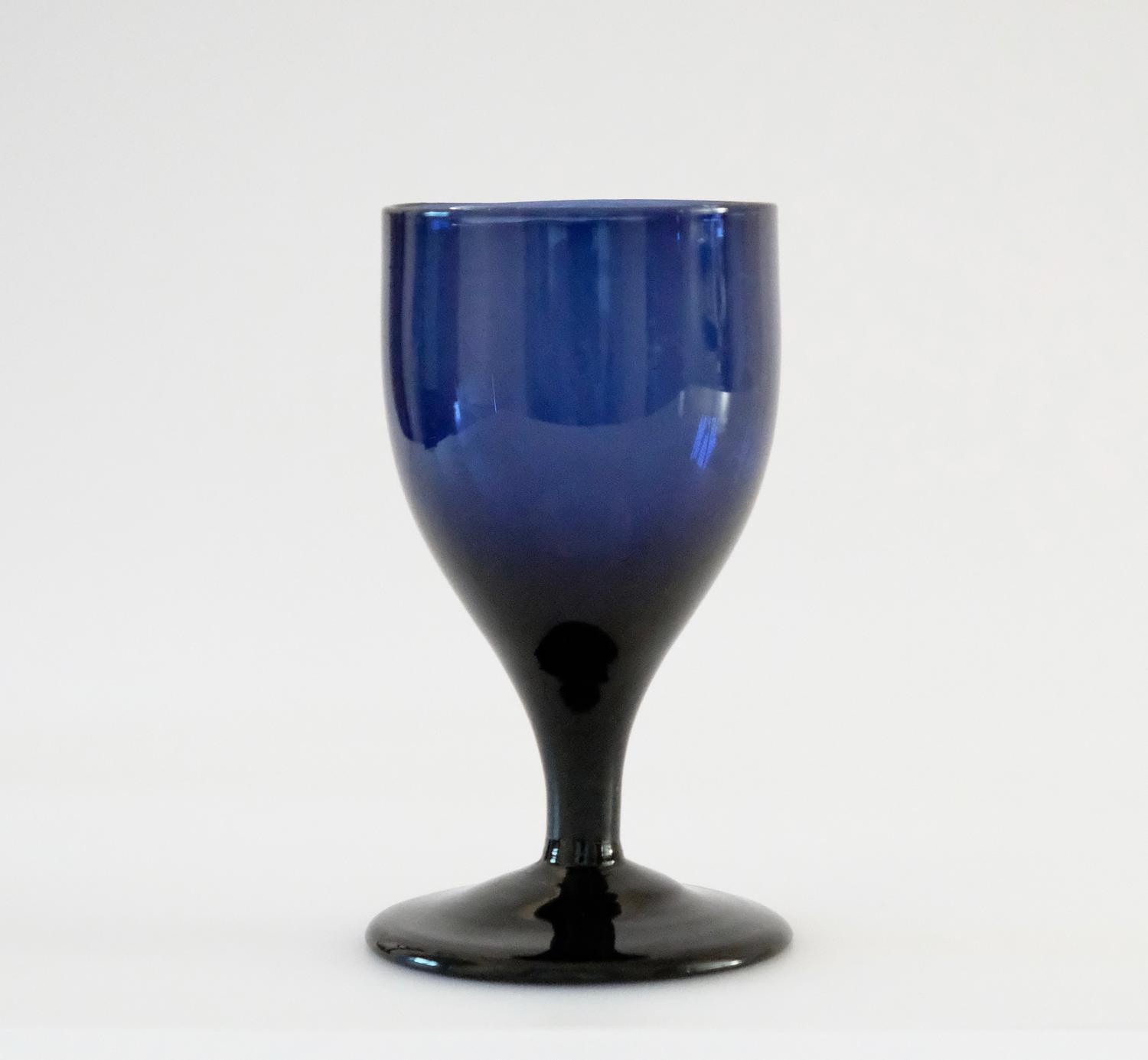 Blue wine glass C1790