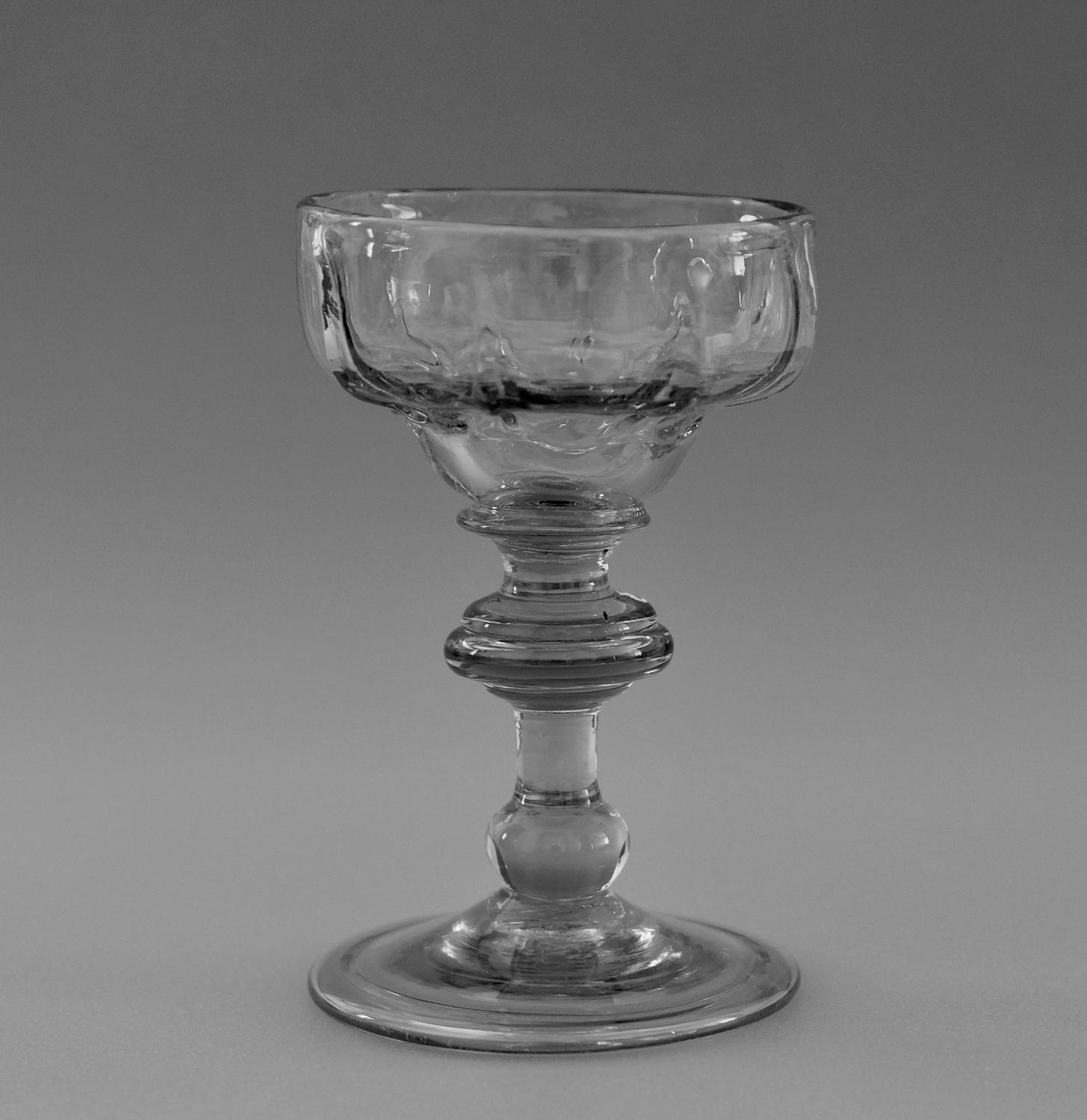 Baluster sweetmeat glass C1730-40