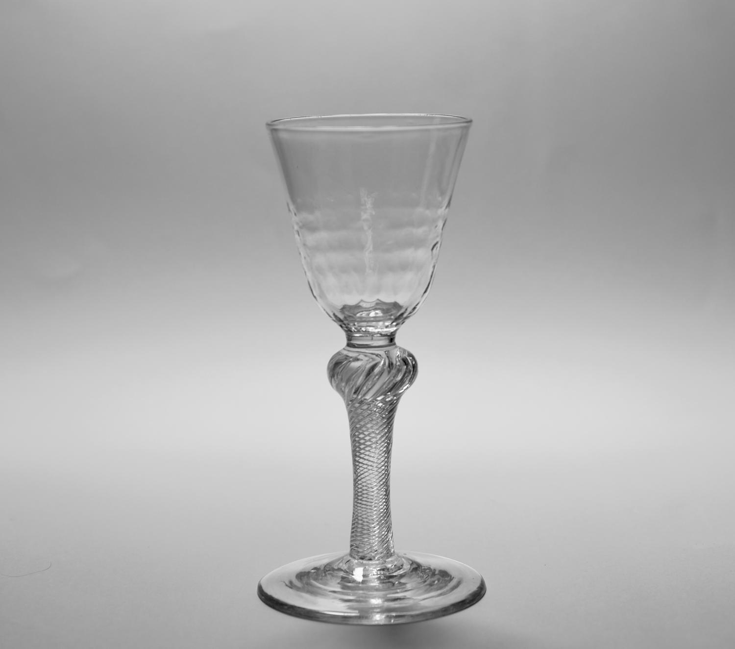 Multi spiral air twist wine glass C1755