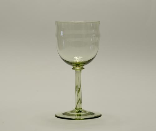 Wine glass designed by Philip Webb C1900