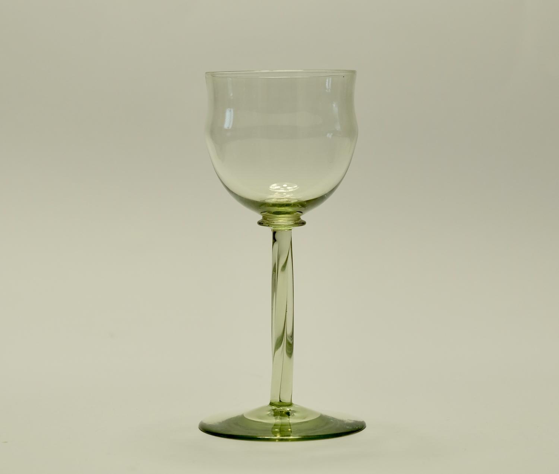 Wine glass designed by Philip Webb C1900