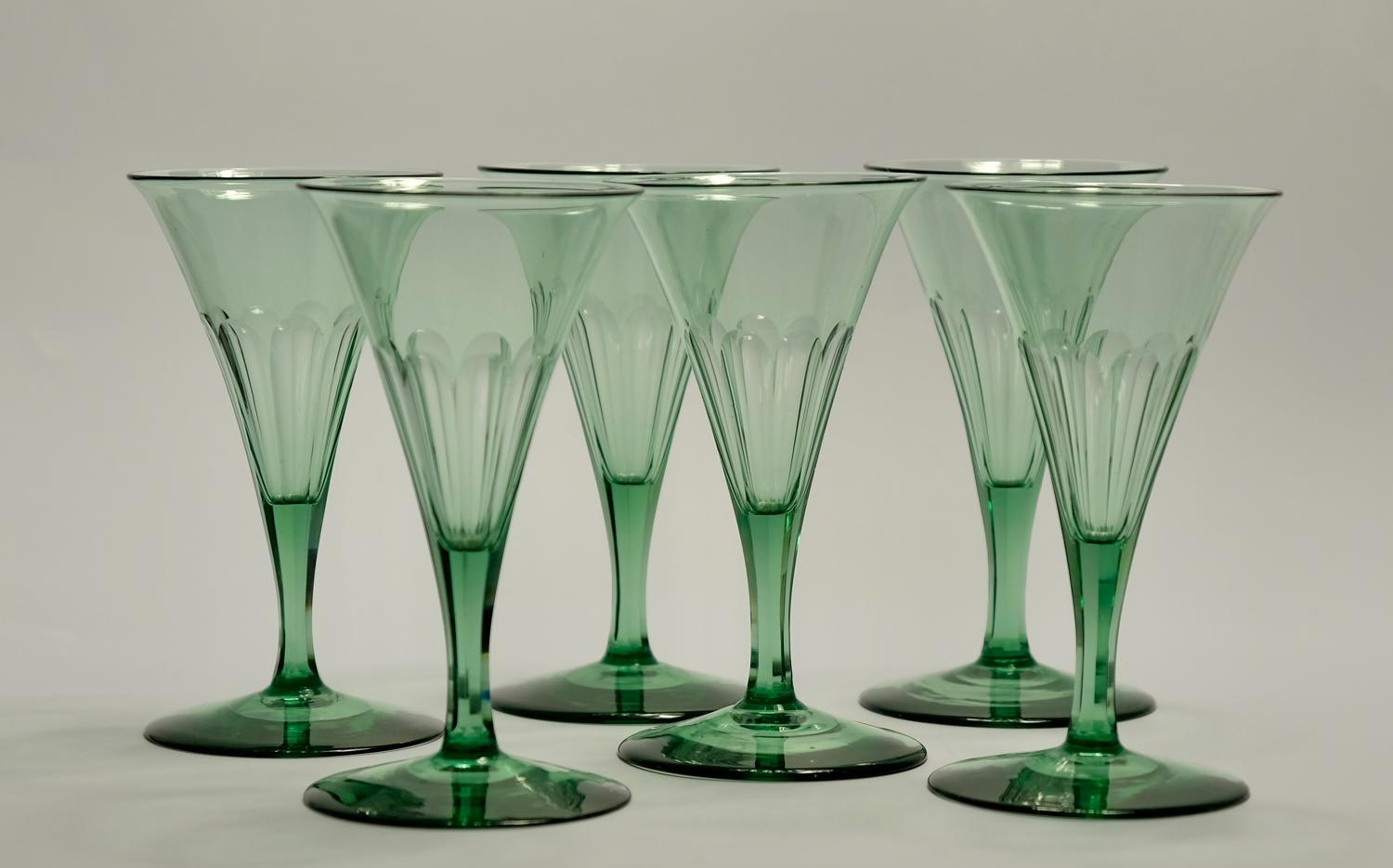 Set of six wine glasses C1840