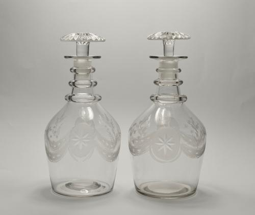 Pair of decanters English C1830