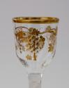 Wine glass with gilt decoration James Giles C1765. - picture 5