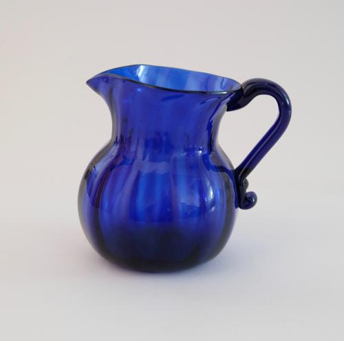 Blue cream jug C1820