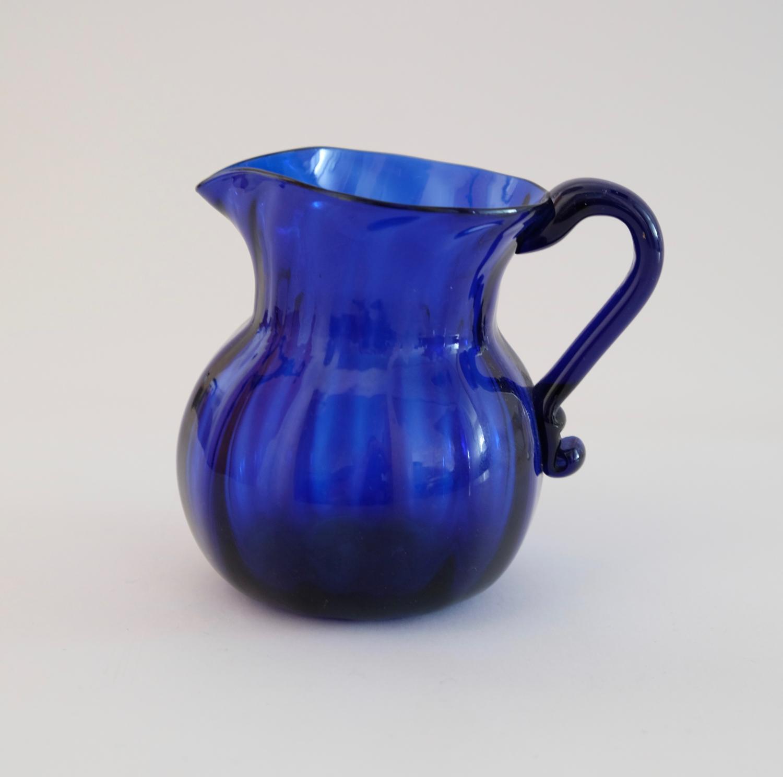 Blue cream jug C1820