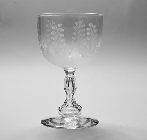Engraved goblet C1880