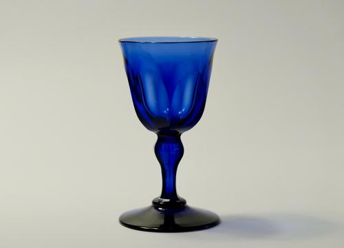 Blue wine glass English C1830