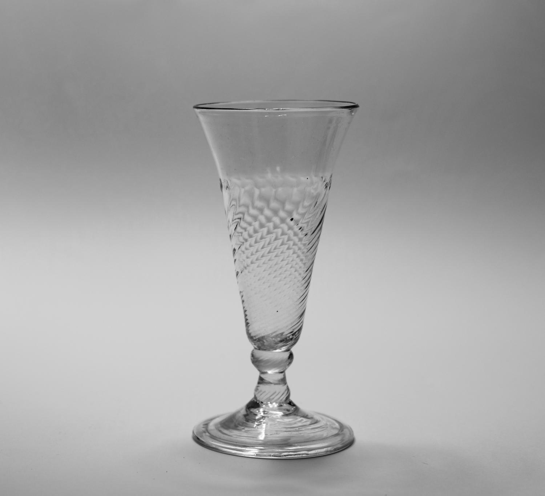 Wrythen ale glass C1760