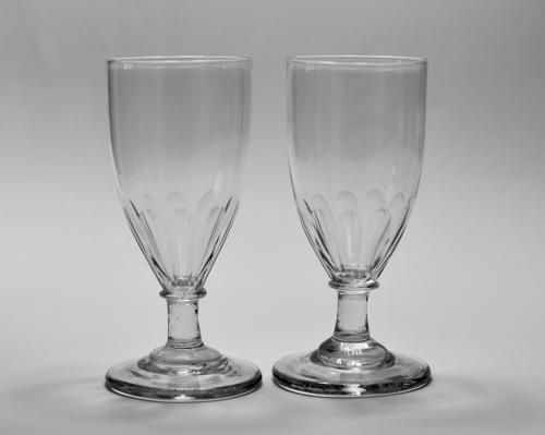 Pair of ale glasses C1810