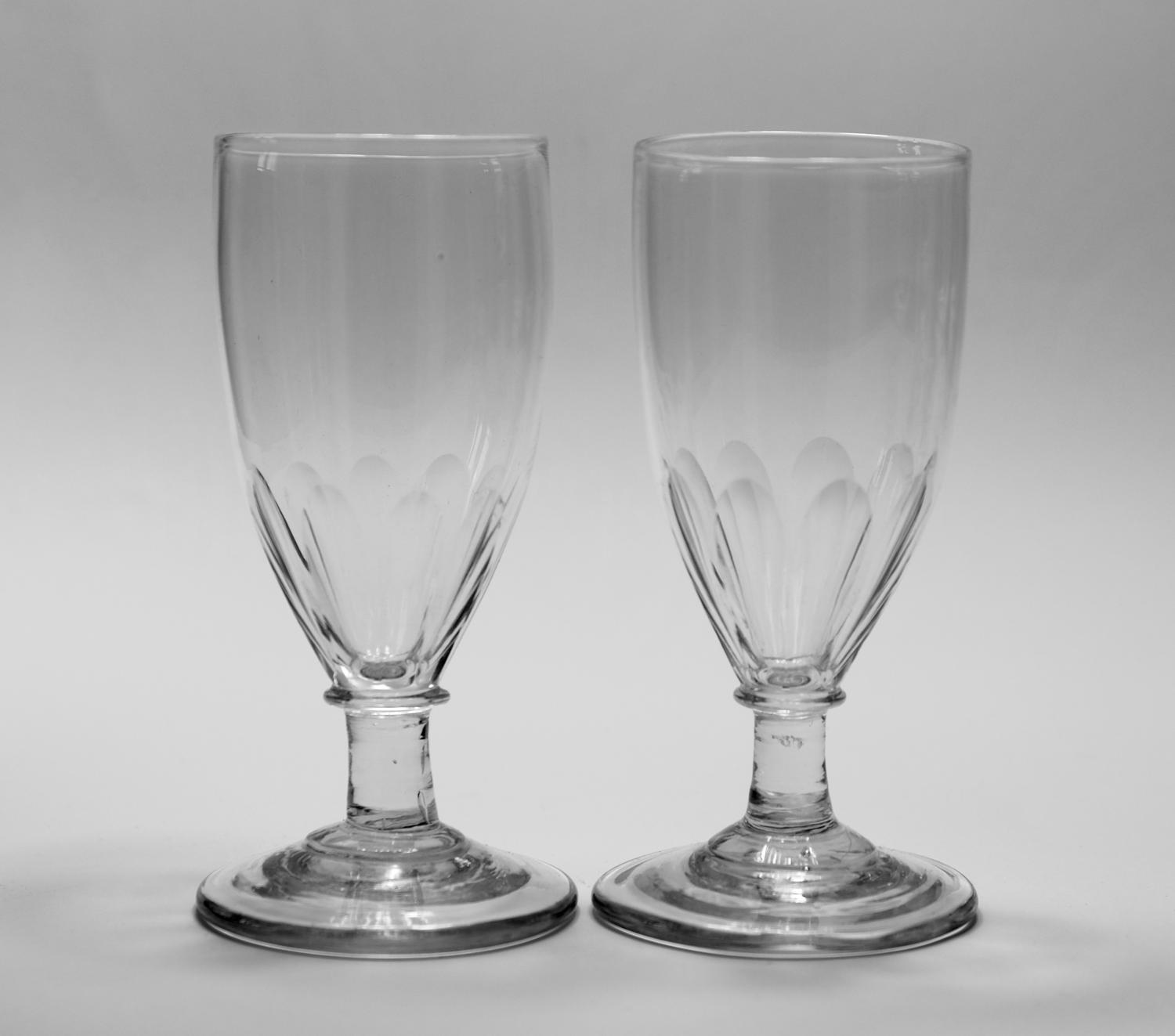 Pair of ale glasses C1810