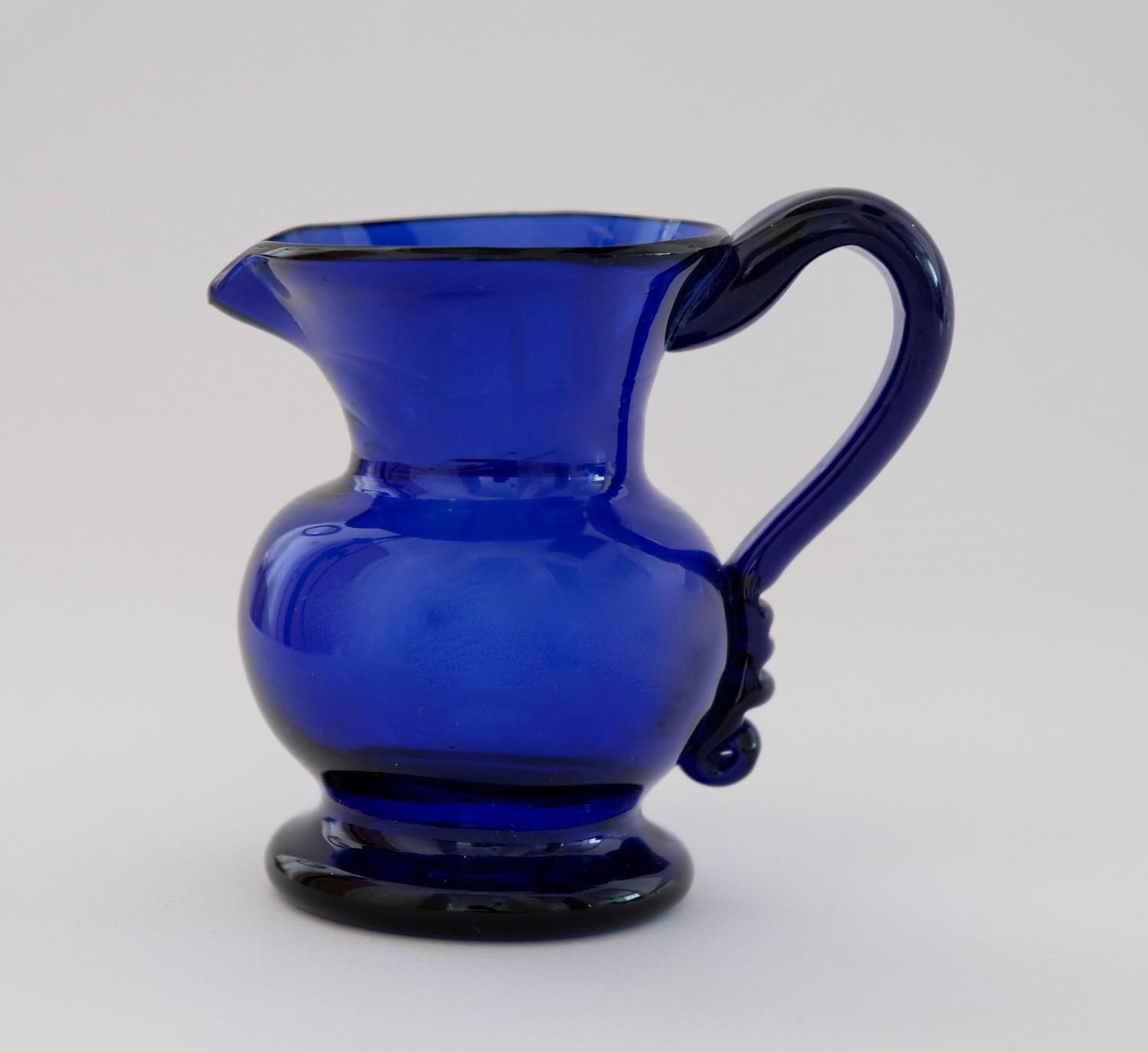Blue cream jug C1830