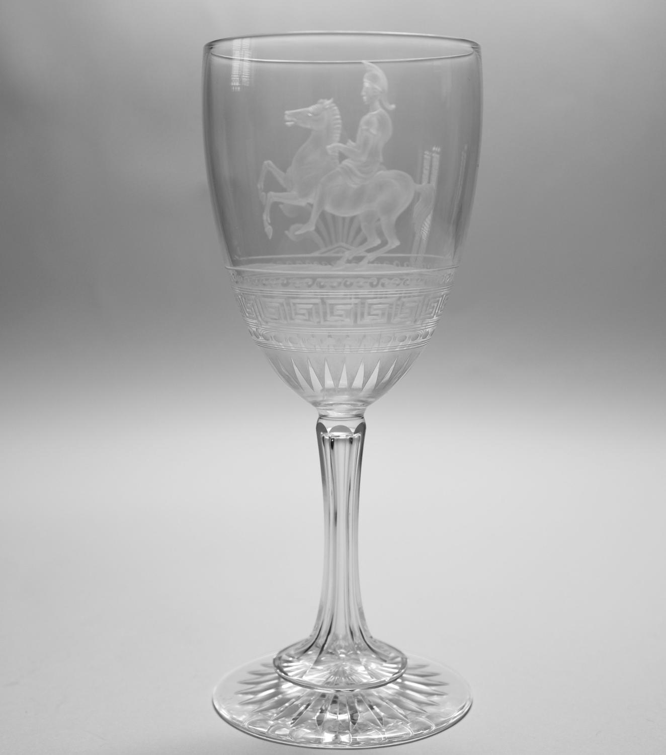 Engraved and etched goblet C1870