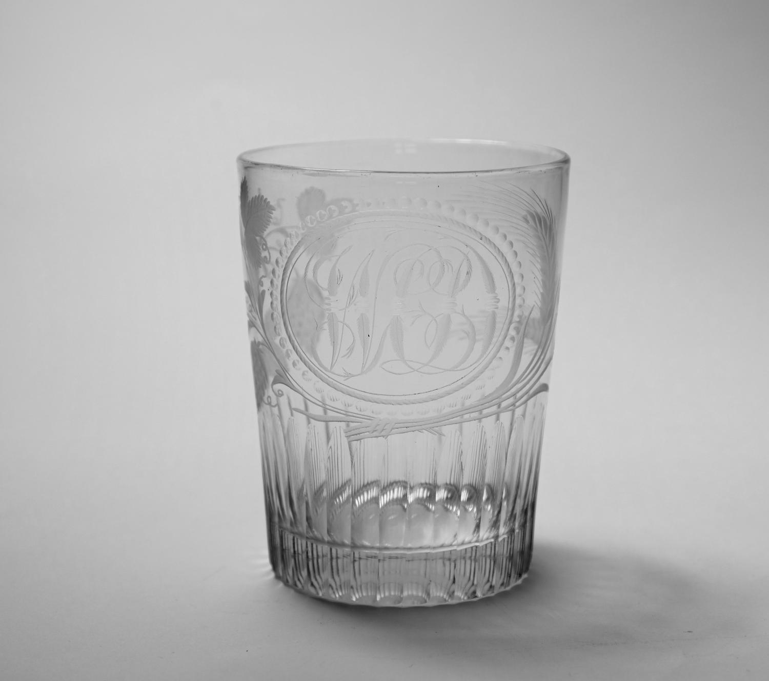 Engraved tumbler English C1800