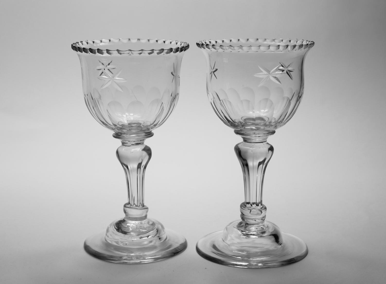 Pair of sweetmeat glasses C1780