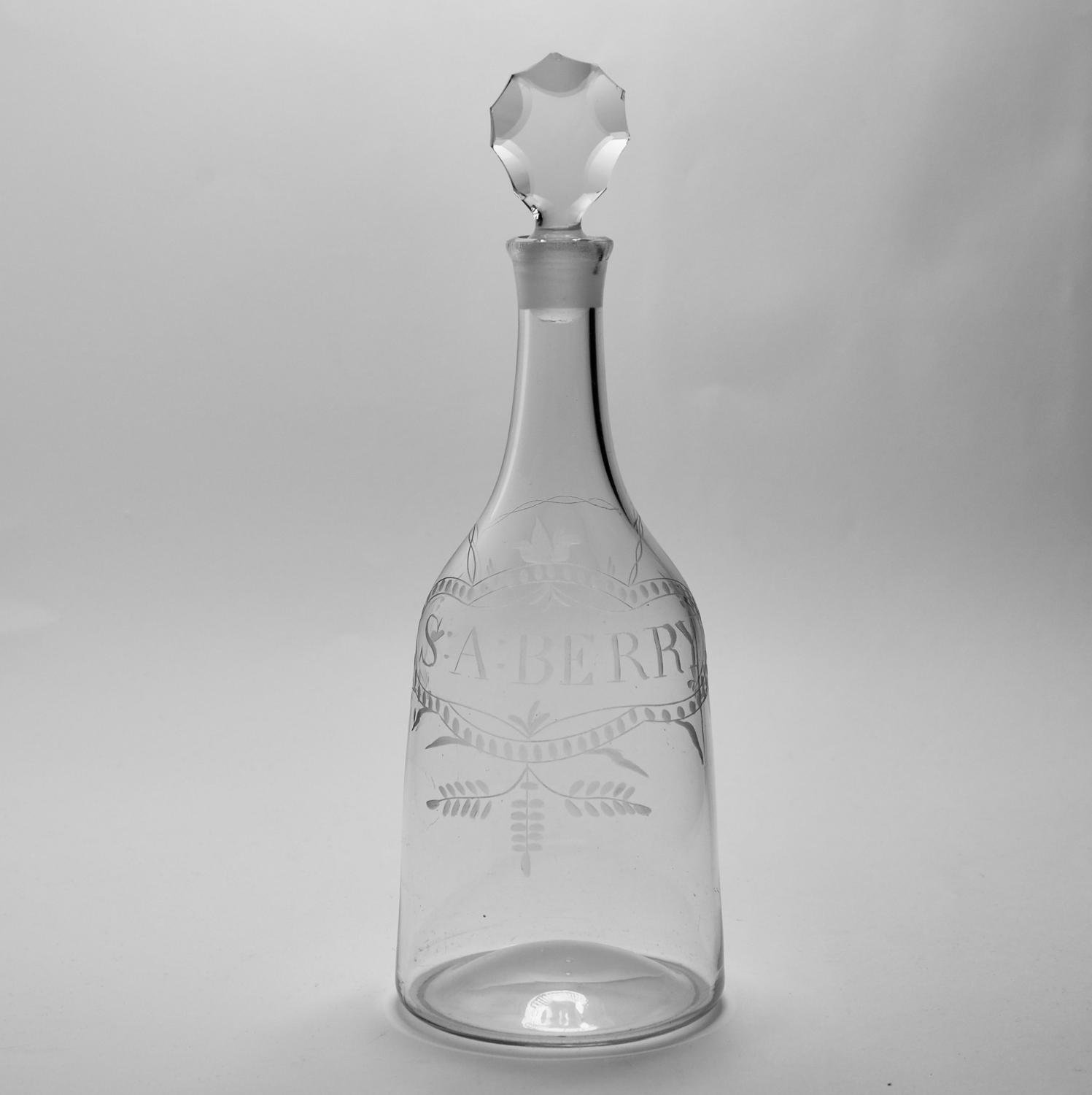 Mallet labelled decanter C1770
