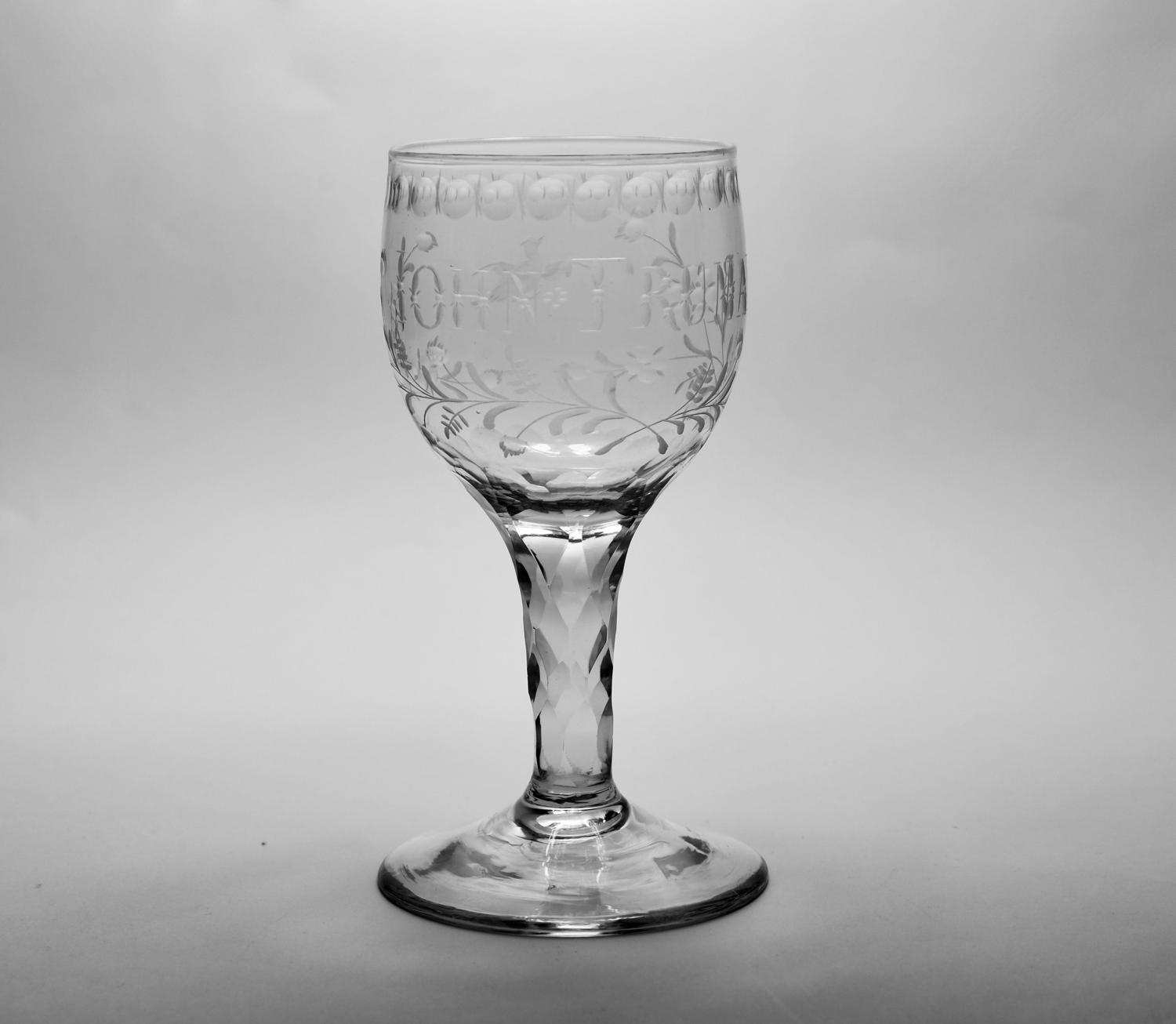 Facet stem wine glass C1780