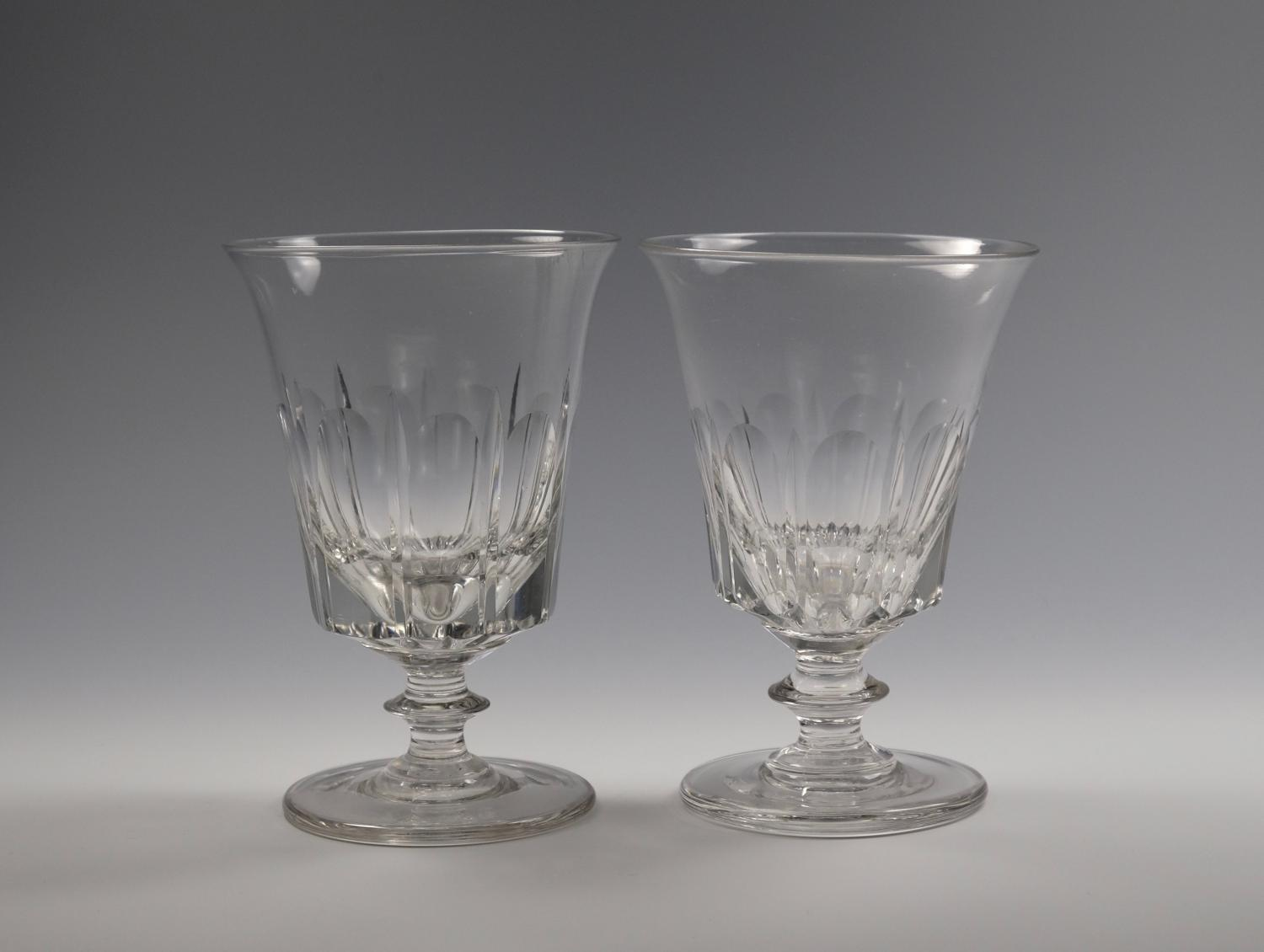 Fine pair of rummers English C1830
