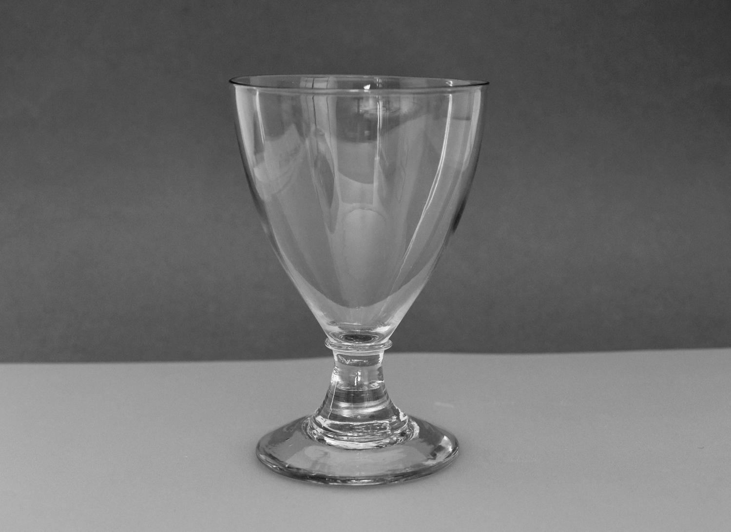 Fine ovoid or pear shaped rummer C1790