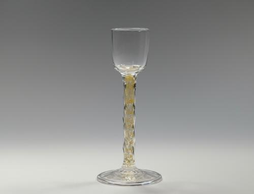 Liqueur glass with gold foil inclusions C1900