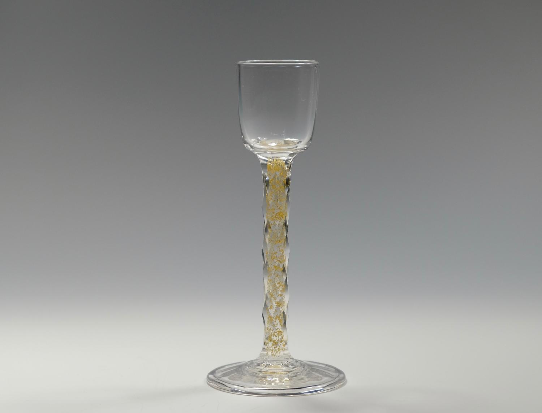 Liqueur glass with gold foil inclusions C1900