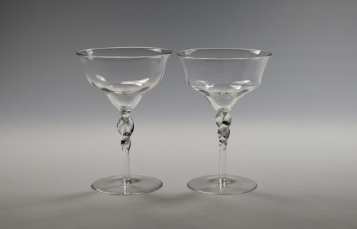 Pair of champagne glasses C1900