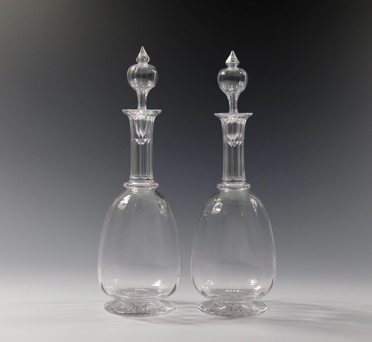 Pair of decanters English C1880