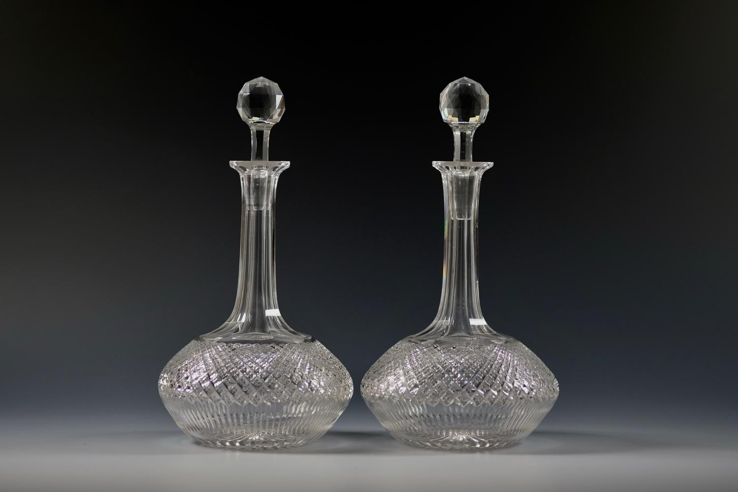 Pair of decanters English C1870